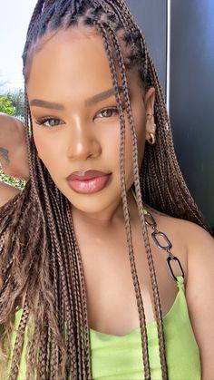 Braid Game, Box Braids Hairstyles For Black Women, Protective Hairstyles, Braid Hairstyles, Protective Styles, Goddess Braids, Beautiful Braids, African Braids, Celebrity Beauty