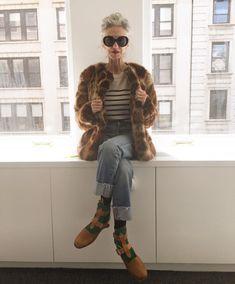 "1,939 Likes, 41 Comments - Linda Rodin. (@lindaandwinks) on Instagram: ""Still wearing faux fur on April  1. Crazy cold."""