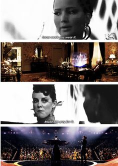 """""""Make 'em pay for it"""" When Johanna realized that Katniss was being used and abused by the capitol like the rest of them"""