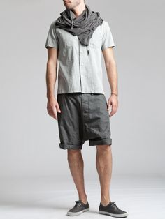 Thin Striped Cotton Low Crotch Short Trouser by SYNGMAN CUCALA