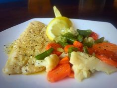 Lemon Butter Fish And Veg / My Version recipe by Mrs Admin (mashuda) posted on 14 Nov 2018 . Recipe has a rating of by 1 members and the recipe belongs in the Seafood recipes category Seafood Dishes, Seafood Recipes, Halal Recipes, Lemon Butter, Food Categories, Risotto, Fish, Chicken, Yum Yum