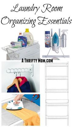 I need to get some of these so that my laundry room is easier to use the way I want to. Laundry Room Organizing Essentials