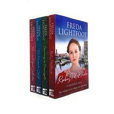 Salford Sagas 4 Books Collection Set By Freda Lightfoot Inc Ruby Mcbride