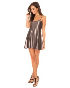Our Mercury dress is a must have party piece! In a luxe silky metallic material…