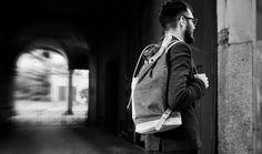 DENIM BACKPACK in cognac LEATHER/Backpacks/Woman от ElMato на Etsy Denim Backpack, Canvas Backpack, Backpack Purse, Leather Shoulder Bag, Leather Bag, By Plane, Leather Backpacks, Vegetable Tanned Leather, New Model