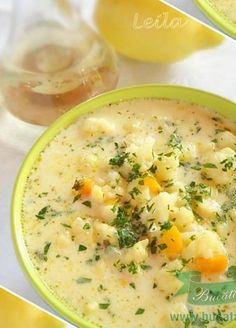 Supa de conopida cu galuscute Shrimp Avocado, Romanian Food, Cooking Recipes, Healthy Recipes, Diy Kitchen, Soups And Stews, Cocktail Recipes, Cheeseburger Chowder, Broccoli