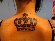 Crown tattoo; like the initial on top
