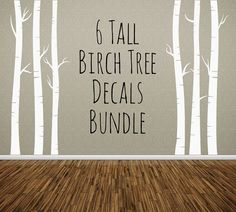 Nursery Tree Wall Decal Birch Tree Decal by AnnaSeeSupplies