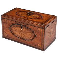 Georgian Satinwood Tea Caddy | From a unique collection of antique and modern boxes at https://www.1stdibs.com/furniture/decorative-objects/boxes/
