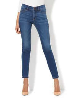 Shop Soho Jeans - Power Shaper Ankle Jean - Force Blue Wash. Find your perfect size online at the best price at New York & Company.