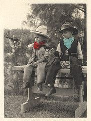 These little cowboys look all geared up for a fight! #LittleCowboy #LifeOutWest #CowboyHat