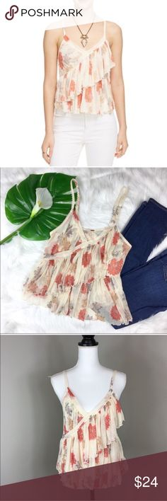 Free People Melbourne Printed Tank Top Free People Melbourne Printed Tank Top. Size large. Approximate measurements flat laid are 24' long and 16 1/2' bust. EUC with no major flaws. ❌I do not Trade 🙅🏻 Or model💲 Posh Transactions ONLY Free People Tops Tank Tops