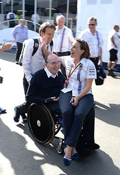 """Nice seen :-)) ""Frank Williams and Claire Williams"