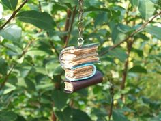 book necklace, soooo cool!  see CRAFTS BOARD for DIY to make own real books