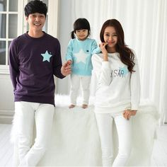 68b63b2d2 2019 Family pack autumn and winter Dad Mom Baby long sleeve cotton sweatshirts  t-shirts children's clothing