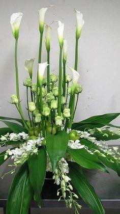 C, Event Gallery, Atlanta Contemporary Flower Arrangements, White Flower Arrangements, Flower Arrangement Designs, Funeral Flower Arrangements, Altar Flowers, Church Flowers, Funeral Flowers, Wedding Flowers, Ikebana