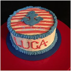 Anchor Nautical Smash Cake