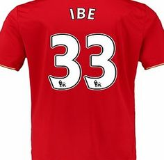 New Balance Liverpool Home Shirt 2015/16 Red with Ibe 33 with Ibe 33 printing http://www.comparestoreprices.co.uk/sportswear/new-balance-liverpool-home-shirt-2015-16-red-with-ibe-33.asp