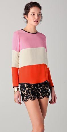 colorblock + lace