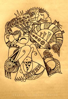 made with ink pen on paper  litle: confusion