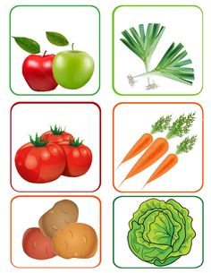 Fruit and Vegetables Fruit Clipart, Food Clipart, Fruit And Veg, Fruits And Vegetables, Food Pyramid Kids, Healthy Kids, Healthy Recipes, Preschool Painting, Image Fruit