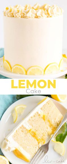 Lemon Recipes, Sweet Recipes, Baking Recipes, Cake Recipes, Best Lemon Cake Recipe, Homemade Lemon Cake, Easy Desserts, Delicious Desserts, Lemon Curd Cake