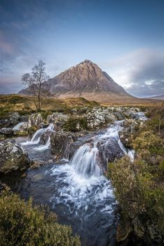 From the heather-clad hills, to the pristine lochs, there really is no place quite like the Scottish Highlands. Beautiful Waterfalls, Beautiful Landscapes, Places To Travel, Places To See, Places Around The World, Around The Worlds, Beautiful World, Beautiful Places, Landscape Photography