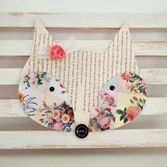Make this cute fox wall decor for you kids bedroom with only a few things you might have already at home!..Thanks so xox ☆ ★   https://uk.pinterest.com/peacefuldoves/