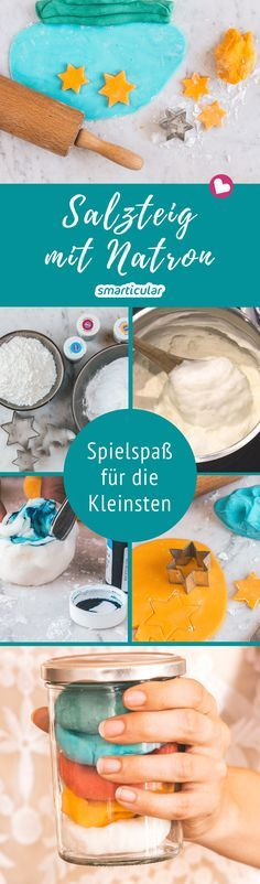 Salzteig lässt sich einfach und schnell aus Küchenzutaten herstellen und kreat… Salt dough can be easily and quickly produced from kitchen ingredients and processed creatively. This variant with soda is even finer and also pure white. Crafts For Teens To Make, Winter Crafts For Kids, Gifts For Teens, Diy For Teens, Diy For Kids, Winter Diy, Summer Gift Baskets, Easy Crafts, Diy And Crafts