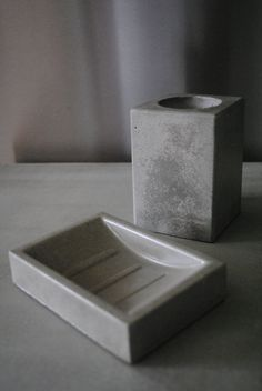 Concrete Bath Set by fmcdesign on Etsy
