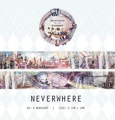 Neverwhere Washi Tape Sample, Explorer Washi Sampler, Original Illustration Washi Tape, Underwater, Submarine