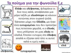 Greek Language, Speech And Language, Learn Greek, Greek Alphabet, Teaching Aids, School Lessons, Reading Activities, Learn To Read, Speech Therapy