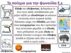 Δραστηριότητες, παιδαγωγικό και εποπτικό υλικό για το Νηπιαγωγείο: Το ποίημα για την φωνούλα Ε,ε