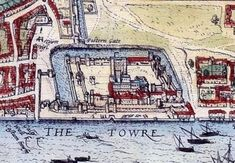 Old Maps Of London, London Map, Tower Of London, Old London, London City, Great Fire Of London, The Great Fire, Uk History, London History