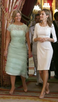 MyRoyals: State Visit of Panama to Spain, September 8, 2014-First Lady Lorena Castillo and Queen Letizia