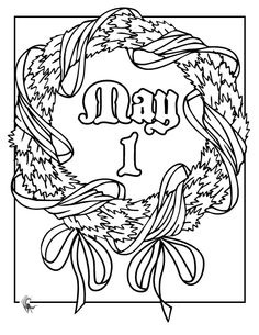 Free May Day Coloring Sheets