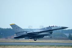 A U.S. Air Force F-16 Fighting Falcon takes off for a sortie during Phase II of an Operational Readiness Exercise at Misawa Air Base, Japan, May 5, 2014. During an ORE, these F-16s increase PACAF capabilities to ensure freedom of movement in the Pacific. (U.S. Air Force photo/Senior Airman Derek VanHorn)