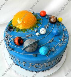 Детский торт космос