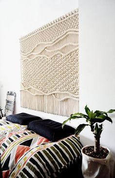 XXL / Makramee Wandbehang / Tucan Kopfteil / Makramee Wandkunst / Tapisserie / Wandkunst / Ranran Design Hand Made – Wall Hanging Macrame Art, Macrame Design, Macrame Projects, Macrame Modern, Diy Projects, Macrame Knots, Mur Diy, Macrame Patterns, Quilt Patterns