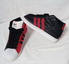 Adidas 2003 Superstar II SPL Red/Black /White Mens SZ 10.5 High RARE Amazing !! | Clothing, Shoes & Accessories, Men's Shoes, Athletic | eBay!