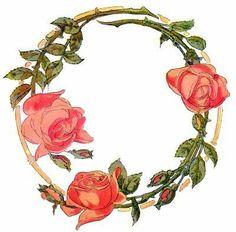 rose wreathe tattoo