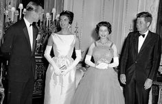 Prince Philip, Jackie, the Queen and JFK all together in one photo