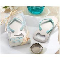 Abridor botella flip flop para boda en la playa