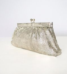Vintage Glomesh Evening Bag Silver Mesh by VintageAgelessThings