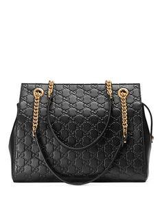 eb629d34660f Gucci Signature Chain-Handle Tote Bag Gucci Chain Bag, Gucci Tote Bag, Gucci