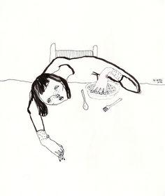 korvjl: everything suck / august 2014 Line Drawing, Painting & Drawing, Arte Horror, Art Sketchbook, Dark Art, Art Inspo, Line Art, Art Reference, Cool Art