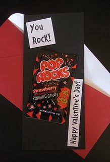 great sight for homemade valentine ideas... love the pop rocks idea!!