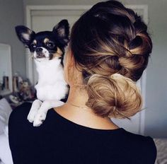 Too cute! french braid into bun