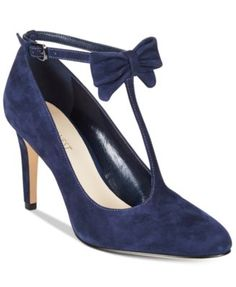 Nine West Hollison T-Strap Bow Pumps $89.00 A sweet bow detail adds charming sophistication to the T-strap design of Nine West's Hollison pumps.