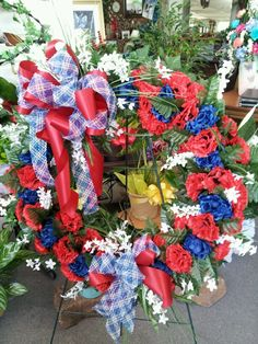Silk wreath for Memorial Day